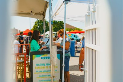 Festival goers were eager to get in and see all of this year's offerings.