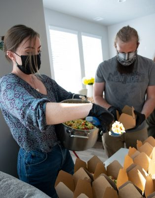 The Food Justice Coalition provides roughly 1,500 nutrient-dense, vegan meals per month to the unsheltered community.