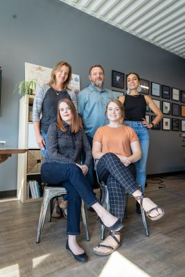(Clockwise from left) As Third Sun Productions, Jocelyn Kearl, Troy Mumm, Sabriel Gee, Delaney Stevens and Marina Atherton-Howe approach design with a community-focused mindset.