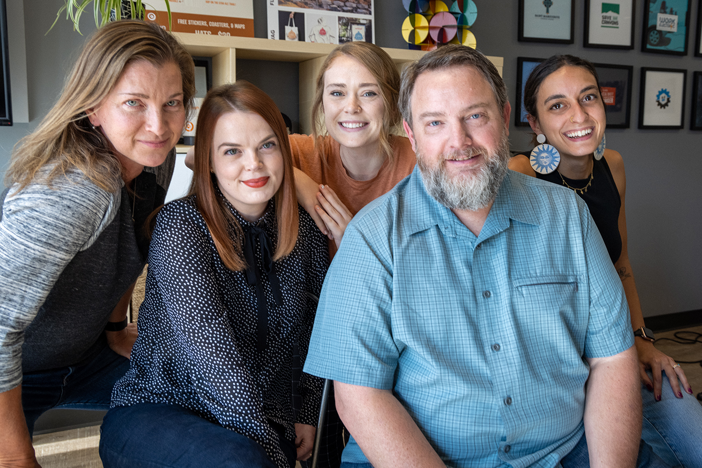 (L–R) As Third Sun Productions, Jocelyn Kearl, Marina Atherton-Howe, Delaney Stevens, Troy Mumm and Sabriel Gee approach design with a community-focused mindset.