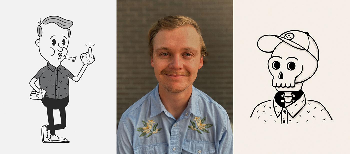 Andy Nelson enjoys working as a product designer for real estate firm Homie but spends his spare time honing his hand-drawn illustrations.