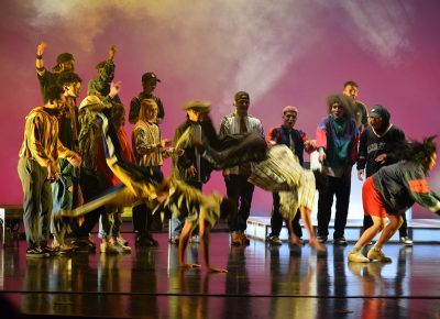 They Reminisce provided a multimedia performance honoring hte history of hip-hop (2 of 3).