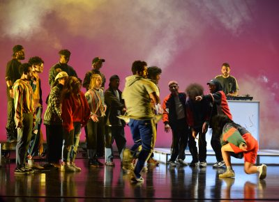 They Reminisce provided a multimedia performance honoring hte history of hip-hop (3 of 3).