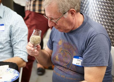 Guests could smell and taste a sample of the very rye that is in their whiskeys.