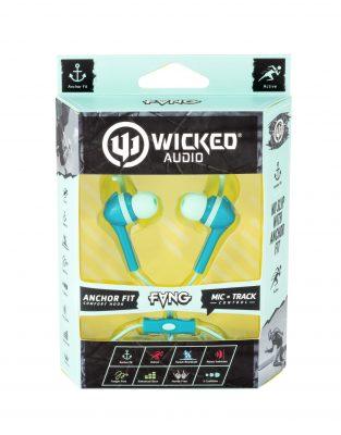 One of Gardner's packaging designs for Wicked Audio headphones.