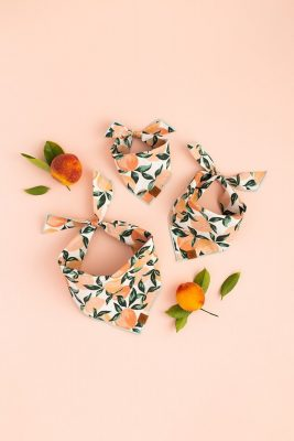 Among Demkov's portfolio lives her collaboration with The Foggy Dog, a pet bandana company that pairs their product with matching human scrunchies.