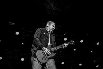 Punk legend Lars Fredrickson on guitar.