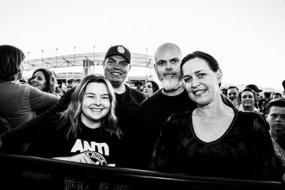 Teegan Meyers, Jason Meyers, Anthony Stockwell and Mindy Guzman waiting in the crowd for Dropkick Murphys to start.
