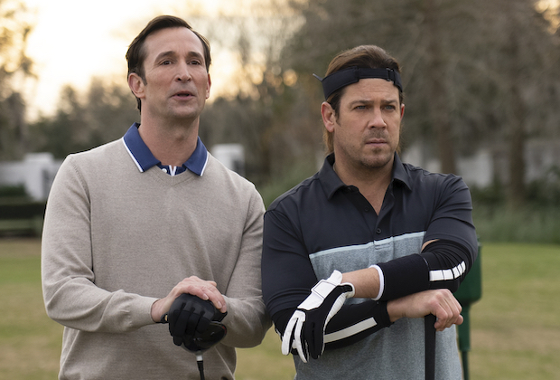 Noah Wyle and Christian Kane in The Golf Job, one of three episodes directed by Wyle.